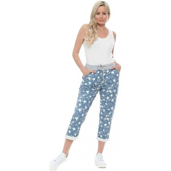 Clothing Women Tracksuit bottoms Made In Italia Blue Seeing Stars Print Joggers Blue