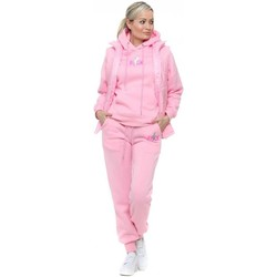 Clothing Women Tracksuits Boutique Candy Pink Sequinned Rock Gilet & Tracksuit Set Pink
