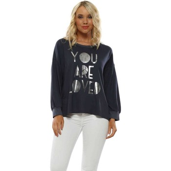 Clothing Women Sweaters A Postcard From Brighton Charcoal You Are Loved Sweater Grey
