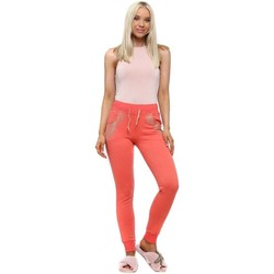 Clothing Women Tracksuit bottoms E Diva Coral Angel Wings Studded Pocket Joggers Orange