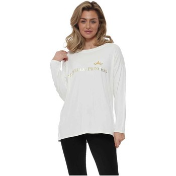 Clothing Women Tops / Blouses A Postcard From Brighton Daisy White Prosecco Princess Long Sleeve Top White