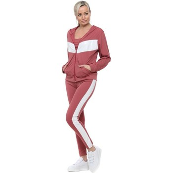 Clothing Women Tracksuits Boutique Dark Pink Contrast Sporty 3 Piece Tracksuit Pink