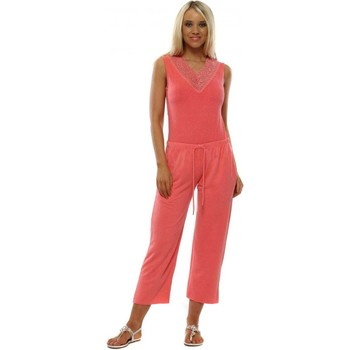 Clothing Women Jumpsuits / Dungarees A Postcard From Brighton Ellie Coral Cropped Joggers Orange