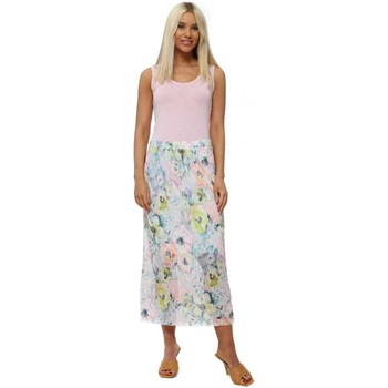 Clothing Women Skirts A Postcard From Brighton Fable Daisy White Floral Pleated Skirt White
