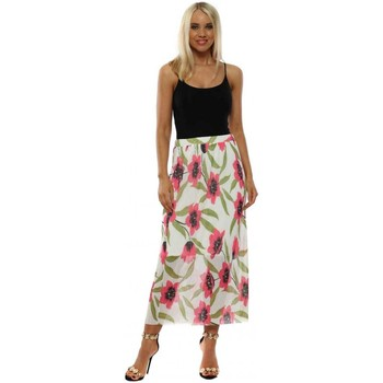 Clothing Women Skirts A Postcard From Brighton Fae Daisy White Floral Pleated Skirt White