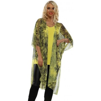 Clothing Women Tops / Blouses A Postcard From Brighton Golden Lime Francis Frosted Flowers Kimono Green