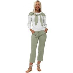 Clothing Women Tracksuits Boutique Green & Cream Shawl Sleeve Knitted Co-Ord Green