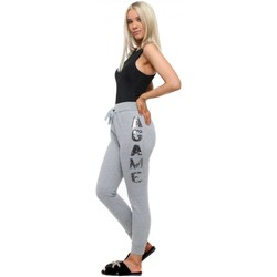 Clothing Women Tracksuit bottoms E Diva Grey Sequinned A GAME Joggers Grey