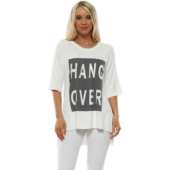 Clothing Women Short-sleeved t-shirts A Postcard From Brighton Hangover Daisy White Relaxed T-Shirt White
