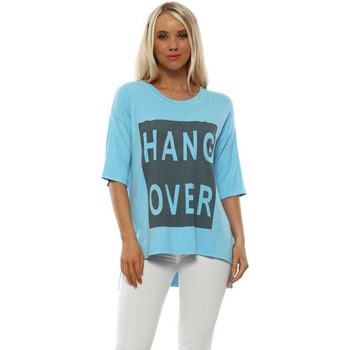 Clothing Women Short-sleeved t-shirts A Postcard From Brighton Hangover Sky Relaxed T-Shirt Blue