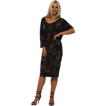 Clothing Women Short Dresses A Postcard From Brighton Isabella Cafe Au Lait Ikat Tunic Dress Brown