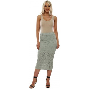Clothing Women Skirts A Postcard From Brighton Layla Herb Lace Pencil Skirt Green