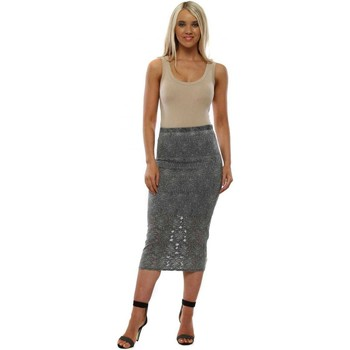 Clothing Women Skirts A Postcard From Brighton Layla Thunder Lace Pencil Skirt Grey
