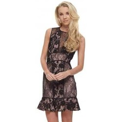 Clothing Women Tops / Blouses The Jetset Diaries Loaded Dress In Black Lace With Open Back Black