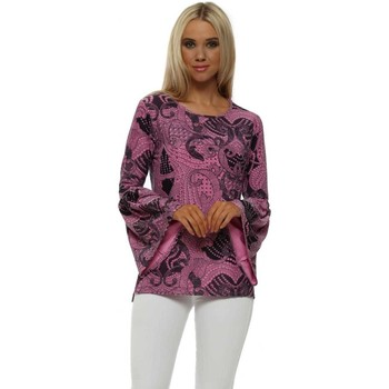Clothing Women Tops / Blouses A Postcard From Brighton Lola Pinkest Luxe Luxe Flouncy Sleeve Top Pink