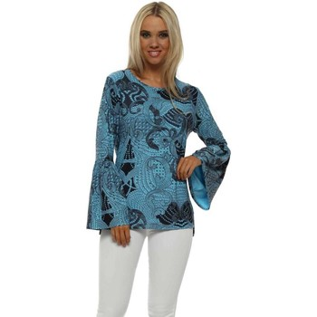 Clothing Women Tops / Blouses A Postcard From Brighton Lola Sky Luxe Luxe Flouncy Sleeve Top Blue
