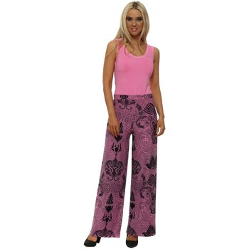 Clothing Women Wide leg / Harem trousers A Postcard From Brighton Lou Pinkest Luxe Luxe Wide Leg Trousers Pink