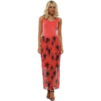 Clothing Women Skirts A Postcard From Brighton Mae Coral Floral Maxi Skirt Orange