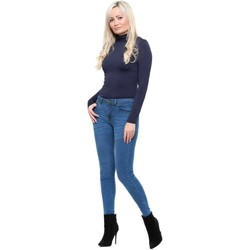 Clothing Women Slim jeans Barligea Mid Blue Stretch Fit Skinny Mid Waisted Jeans Blue