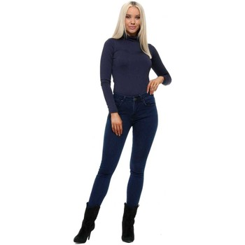 Clothing Women Slim jeans Barligea Navy Stretch Fit Skinny Mid Waisted Jeans Blue