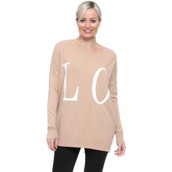 Clothing Women Jumpers Boutique Nude Fine Knit Love Slogan Jumper Pink