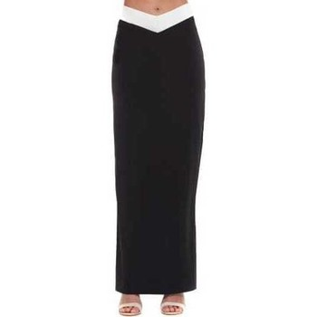 Clothing Women Skirts Asilio Out Of My Hands Skirt Black Maxi With V Detail Black