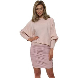 Clothing Women Skirts Boutique Pink Faux Leather Ruched Mini Skirt Pink