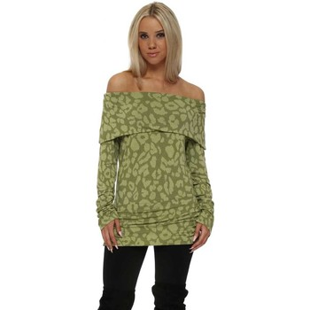 Clothing Women Tops / Blouses A Postcard From Brighton Sasha Golden Lime Off The Shoulder Sexy Skin Top Green