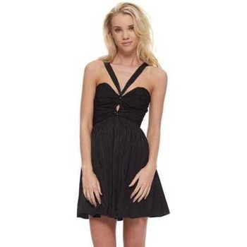 Clothing Women Short Dresses The Jetset Diaries Short Lived Dress With Criss Cross Bandeau Top Black
