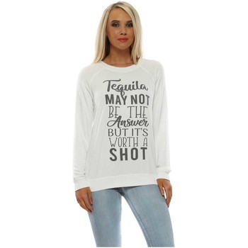 Clothing Women Sweaters A Postcard From Brighton Tequila Shot Daisy White Sweater White