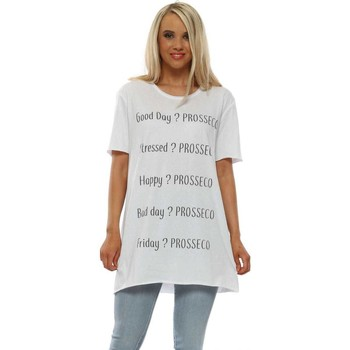 Clothing Women Short-sleeved t-shirts A Postcard From Brighton White Prosseco Cotton T-Shirt White
