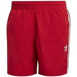 Clothing Men Shorts / Bermudas adidas Originals 3STRIPES Swims Red