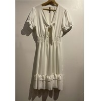 Clothing Women Short Dresses Fashion brands 9176-BLANC White