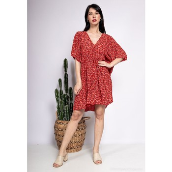 Clothing Women Short Dresses Fashion brands 8888-ROUGE Red