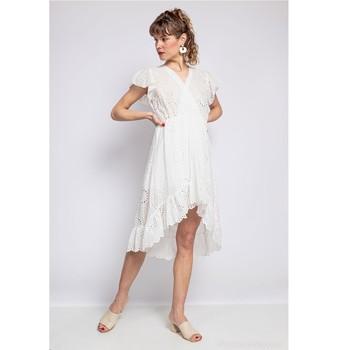 Clothing Women Short Dresses Fashion brands U5233-BLANC White