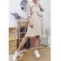 Clothing Women Short Dresses Fashion brands CD2293-BEIGE Beige