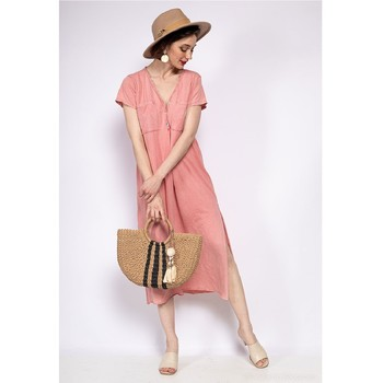 Clothing Women Long Dresses Fashion brands 6658-CORAIL Coral