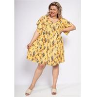 Clothing Women Short Dresses Fashion brands DIABOLE-COLOR-ONE-JAUNE Yellow