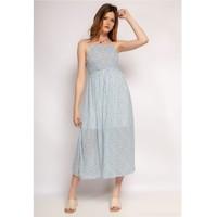 Clothing Women Long Dresses Fashion brands 571-BLEU-CLAIR Blue / Clear