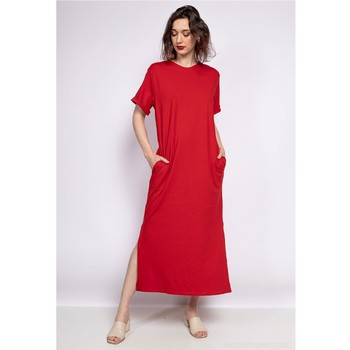 Clothing Women Long Dresses Fashion brands SW004-ROUGE Red