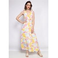 Clothing Women Long Dresses Fashion brands R185-JAUNE Yellow