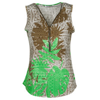 Clothing Women Tops / Blouses Fashion brands 183-07-LIME-GREEN Multicolour