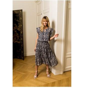 Clothing Women Tops / Blouses Fashion brands CK08138-MARINE Marine