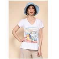 Clothing Women Tops / Blouses Fashion brands 8301-COMBI-SKY-BLUE Blue