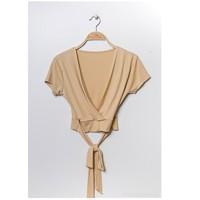 Clothing Women Tops / Blouses Fashion brands FR029T-BEIGE Beige