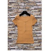 Clothing Women Tops / Blouses Fashion brands HS-2863-BROWN Brown