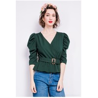 Clothing Women Tops / Blouses Fashion brands STCO-CROISEE-ALPINE-GREEN Green