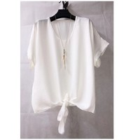 Clothing Women Tops / Blouses Fashion brands BY32-WHITE White