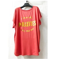 Clothing Women Tops / Blouses Fashion brands V-132P-CORAL Coral