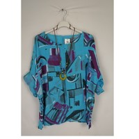 Clothing Women Tops / Blouses Fashion brands 1300-TURQUOISE Turquoise
